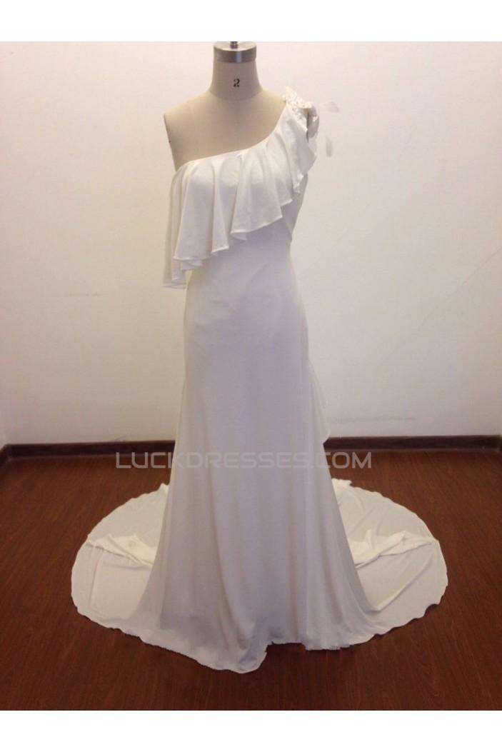 Elegant One Shoulder Bridal Wedding Dresses WD010829