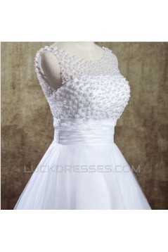 A-line Beaded Lace Short Bridal Wedding Dresses WD010831