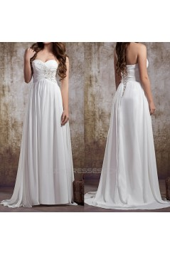 A-line Sweetheart Chiffon Bridal Wedding Dresses WD010842
