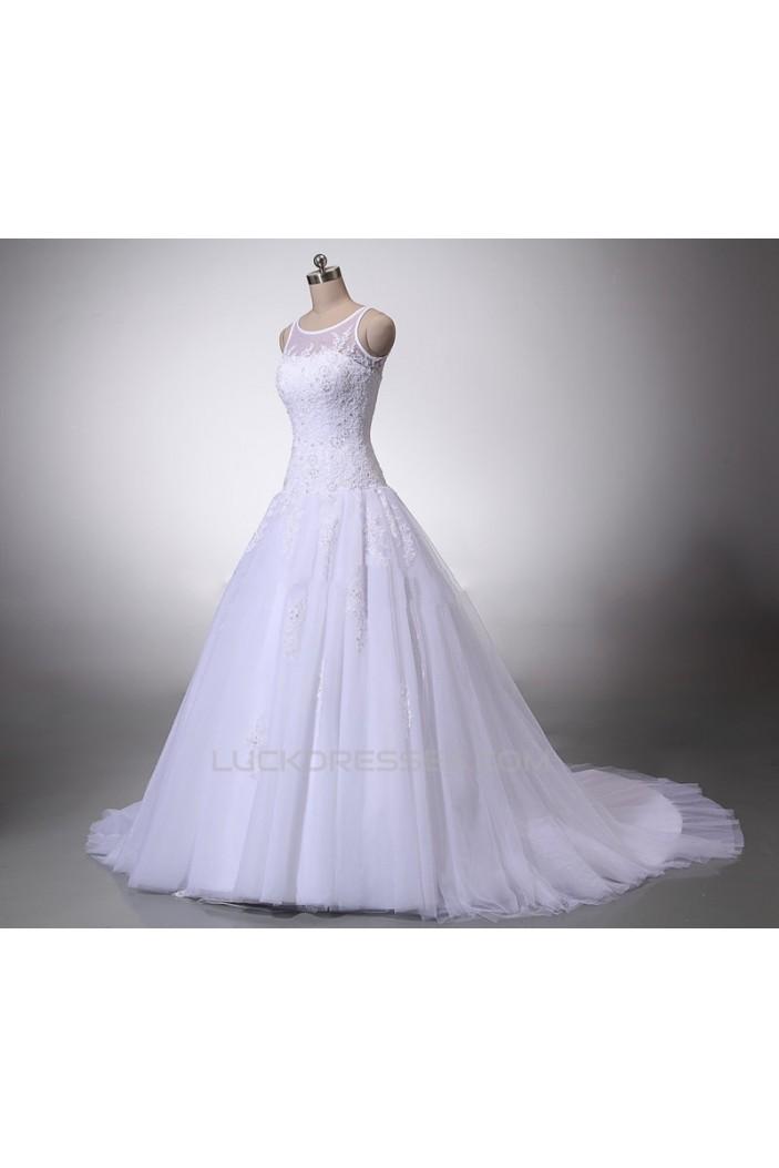 A-line Lace Bridal Wedding Dresses WD010845