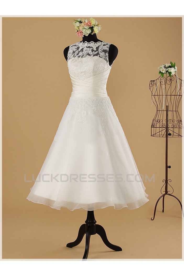 A-line Short Lace Bridal Wedding Dresses WD010851