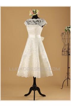 A-line Short Lace Bridal Wedding Dresses WD010854