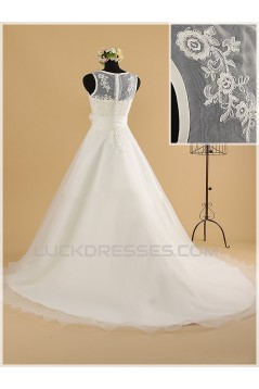 A-line Lace Bridal Wedding Dresses WD010855