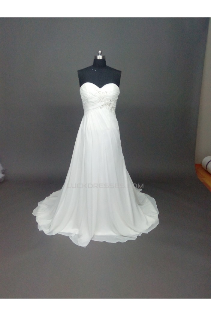 A-line Sweetheart Chiffon Bridal Wedding Dresses WD010857