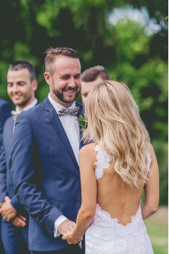 Sheath Backless Lace Bridal Wedding Dresses WD010859