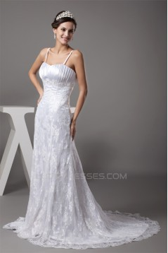 A-Line Beaded Lace Spaghetti Straps New Arrival Wedding Dresses 2030010