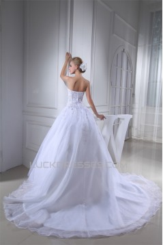 Ball Gown Sweetheart Beaded Appliques Most Beautiful Wedding Dresses 2030018