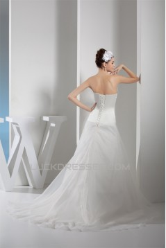 A-Line Sweetheart Beaded Court Train Wedding Dresses 2030020