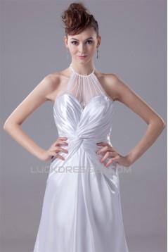 A-Line Sleeveless Halter New Arrival Beaded Wedding Dresses 2030030