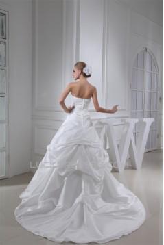 A-Line Sleeveless Strapless Sweet Wedding Dresses 2030031