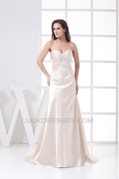 A-Line Sweetheart Embroidered Beaded Wedding Dresses 2030036