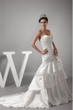 Amazing A-Line Sweetheart Bows Sweet Wedding Dresses 2030051