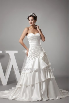 Amazing A-Line Sweetheart Bows Sweet Wedding Dresses 2030051