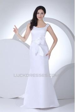 Satin Mermaid/Trumpet Sleeveless Straps Wedding Dresses 2030054