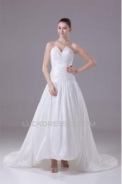 A-Line Sweetheart Beaded Taffeta Wedding Dresses 2030059