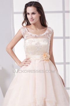 Ball Gown Sleeveless Satin Organza Fine Netting Lace Wedding Dresses 2030062