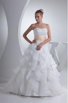 Beautiful Soft Strapless A-Line Beaded Wedding Dresses 2030079