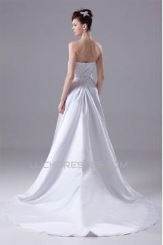 A-Line Sleeveless Sweetheart Beaded Wedding Dresses 2030084