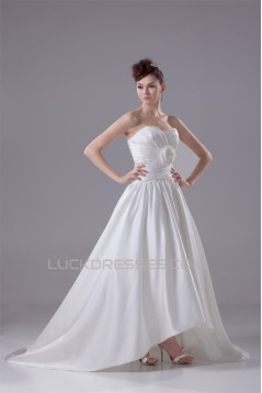 Breathtaking A-Line Sweetheart Sleeveless Satin Reception Wedding Dresses 2030085