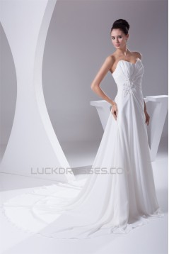A-Line Sweetheart Beaded Applique Sweet Wedding Dresses 2030092