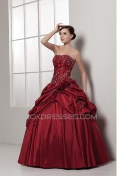 Strapless Satin Taffeta Floor-Length Beading Wedding Dresses with A Jacket 2031000
