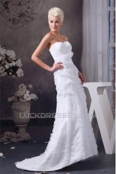 Sweetheart A-Line Satin Sleeveless Wedding Dresses 2031013