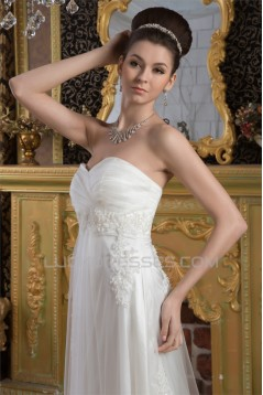 A-Line Sweetheart Satin Fine Netting Lace Wedding Dresses 2031021