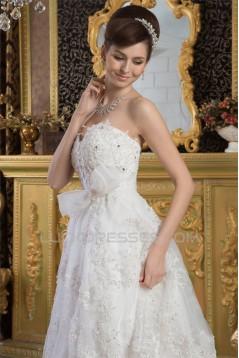 Sweetheart Sheath/Column Sleeveless Satin Fine Netting Lace Wedding Dresses 2031023