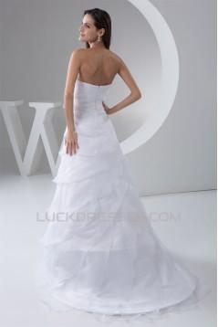 A-Line Sweetheart Sleeveless Beaded Wedding Dresses 2031026