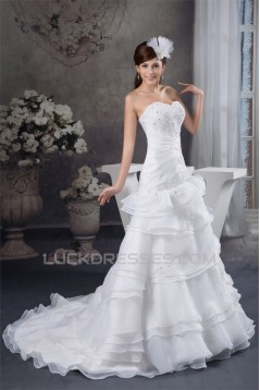 Sweetheart Sleeveless Satin A-Line Lace Wedding Dresses 2031029