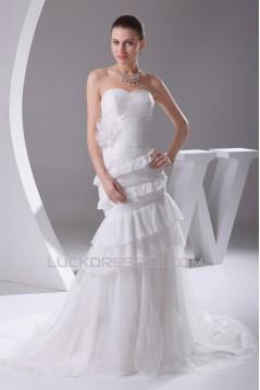Trumpet/Mermaid Sweetheart Sweep Train Wedding Dresses 2030103