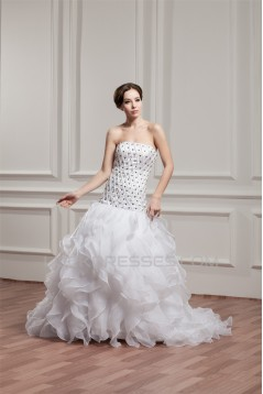 Unique Design Strapless A-Line Sleeveless Wedding Dresses 2031040
