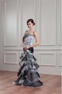 Sleeveless Mermaid/Trumpet Satin Organza Wedding Dresses 2031053