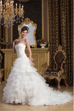 Wonderful A-Line Sleeveless Satin Sweetheart Beaded Wedding Dresses 2031059