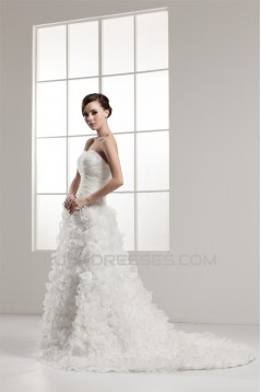 Wonderful A-Line Sweetheart Satin Sleeveless Wedding Dresses 2031063