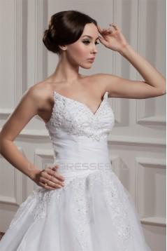 Wonderful A-Line Sweetheart Sleeveless Lace Floor-Length Wedding Dresses 2031064