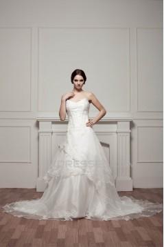 Wonderful A-Line Sleeveless Sweetheart Lace Wedding Dresses 2031071