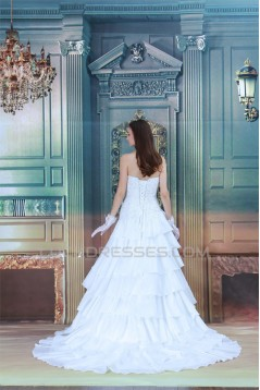 A-Line Sleeveless Soft Sweetheart Satin Taffeta Most Beautiful Wedding Dresses 2031085
