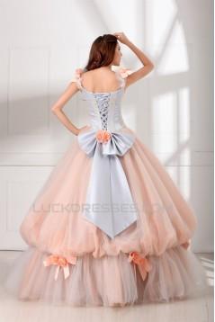 Ball Gown Sleeveless Scoop Satin Organza Fine Netting Wedding Dresses 2031125