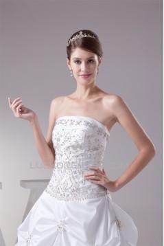 Ball Gown Princess Sleeveless Taffeta Beaded Wedding Dresses 2030113