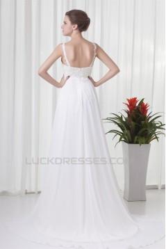Beautiful Chiffon Lace Sleeveless A-Line Wedding Dresses Maternity Wedding Dresses 2031131