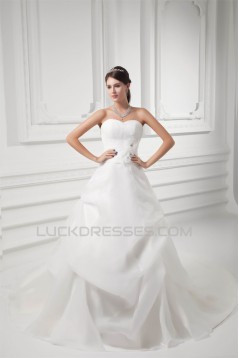 Breathtaking A-Line Sweetheart Sleeveless Satin Sweet Wedding Dresses 2031139