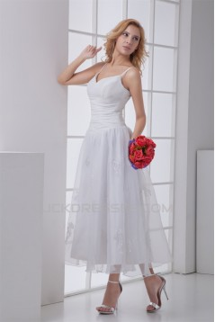 Chiffon Satin Sleeveless A-Line V-Neck Reception Wedding Dresses 2031153