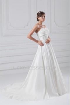 A-Line Sweetheart Taffeta Sleeveless Wedding Dresses 2031200