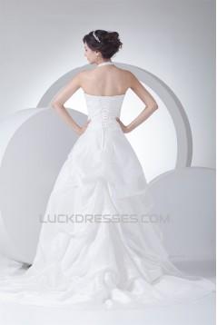 Elegant Halter Sleeveless Princess Beaded Wedding Dresses 2030121