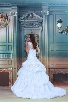 New Arrival Straps Sleeveless Taffeta A-Line Best Wedding Dresses 2031253