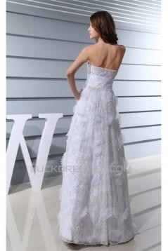 Elegant A-Line Sleeveless Satin Lace Sweetheart Wedding Dresses 2030126