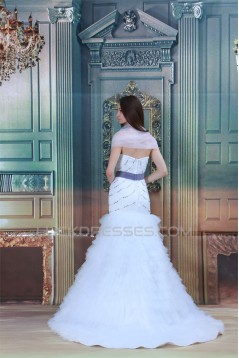 Satin Netting Sleeveless Mermaid/Trumpet New Arrival Wedding Dresses 2031285