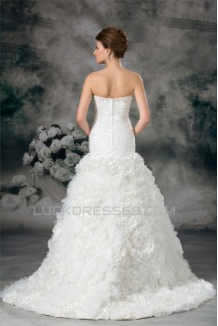 Satin Taffeta Sleeveless Sweetheart A-Line Embellished Wedding Dresses 2031305