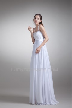 Sheath/Column Halter Sleeveless Chiffon Lace Wedding Dresses Maternity Bridal Gowns 2031308